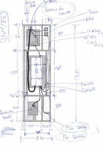Skizze / Entwurf für die Vorsatzwand für den UV1 im EG