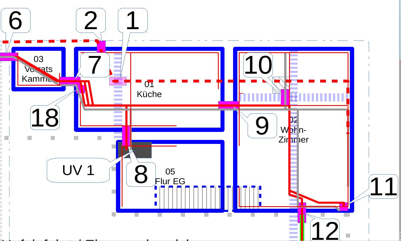 Elektroverkabelung und Dreck – Hof Isem