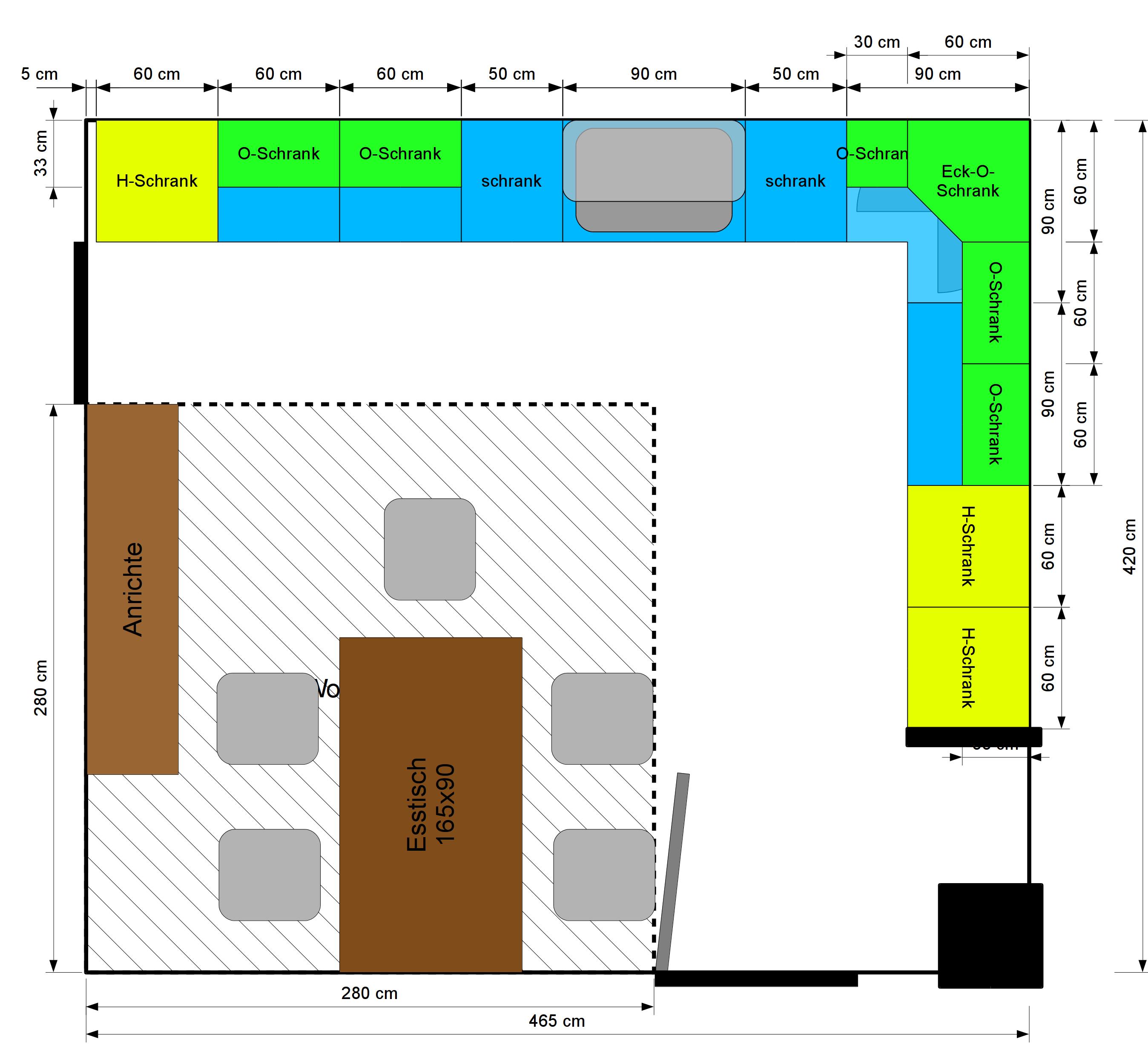 aktuelle planung f r die einbauk che hof isem. Black Bedroom Furniture Sets. Home Design Ideas