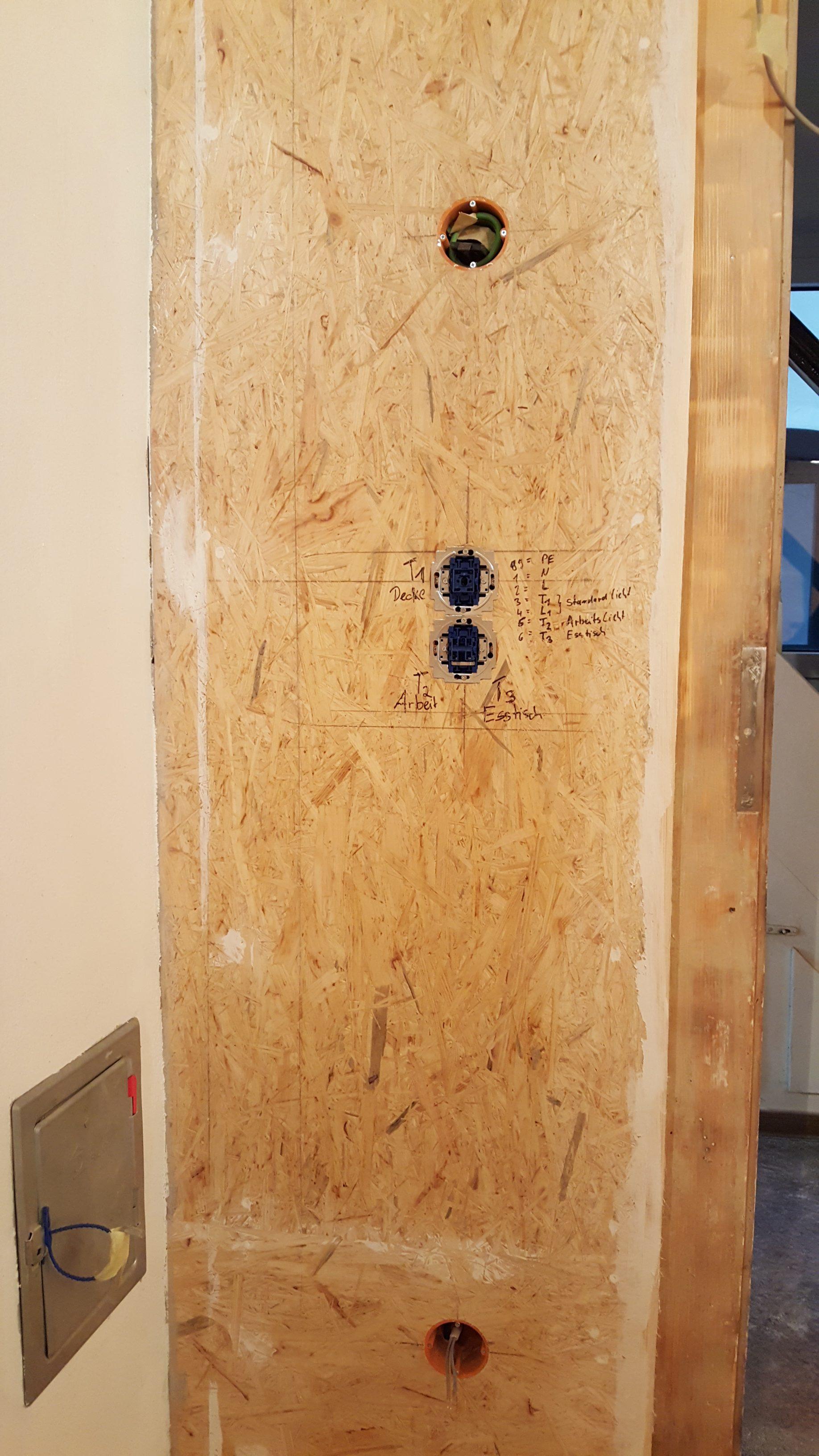 elektroinstallation steckdosen und schalter in der k che hof isem. Black Bedroom Furniture Sets. Home Design Ideas