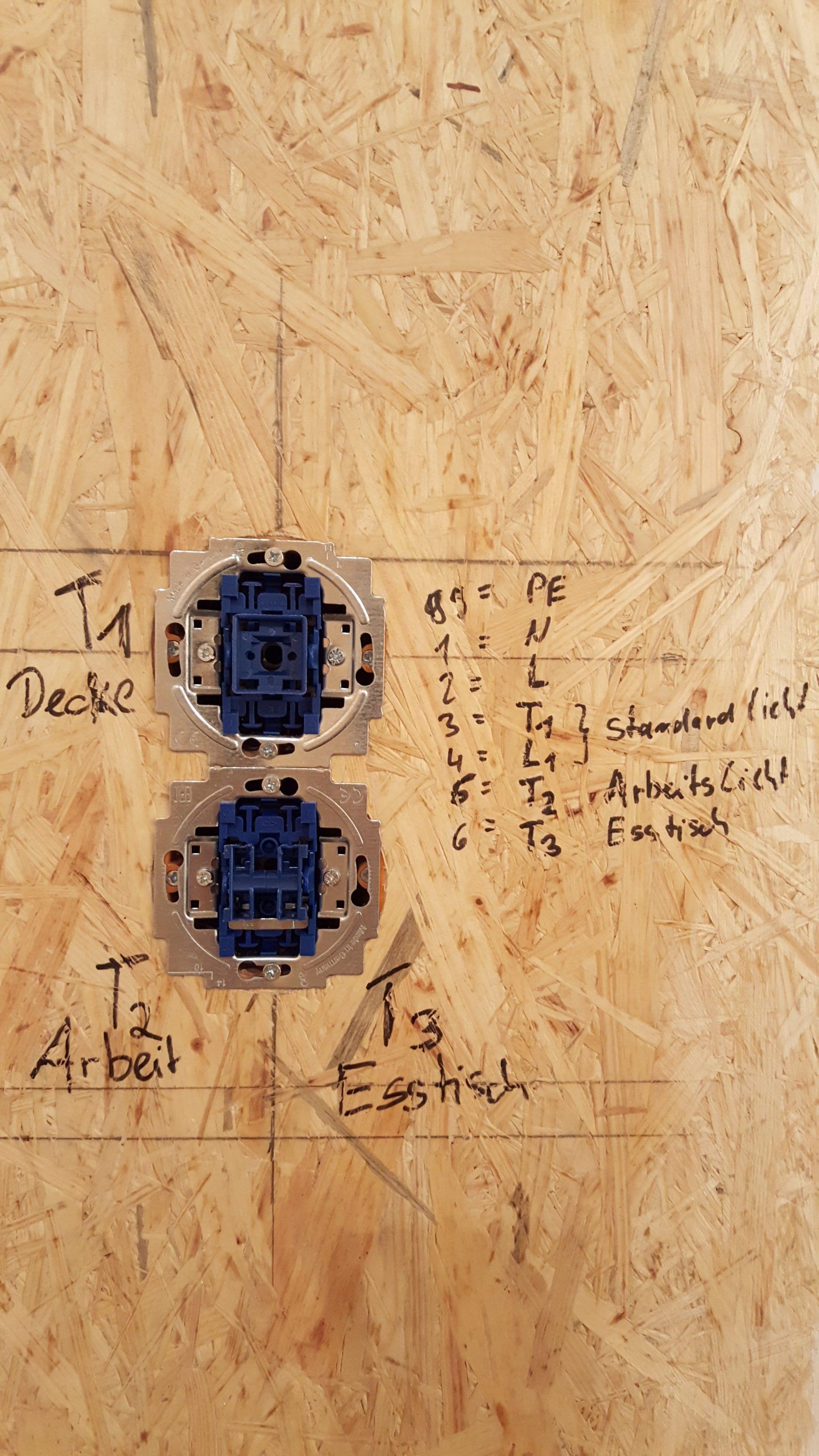 Elektroinstallation: Steckdosen und Schalter in der Küche – Hof Isem